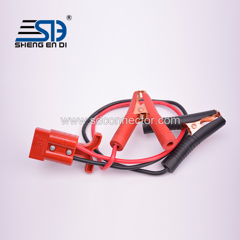 SG 50A connector and alligator clip harness